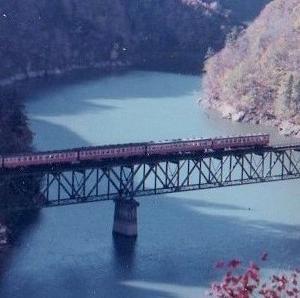 只見第三鉄橋でキハ5連を撮影