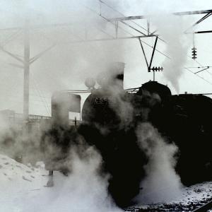 昭和48年蒸気機関車C5550 旭川駅構内で発車を撮影しました