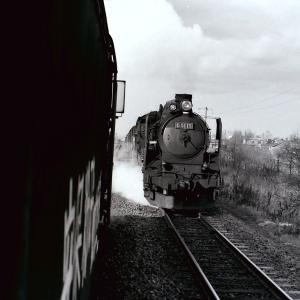 昭和49年蒸気機関車D5115 苫小牧近くでSL車内から撮影
