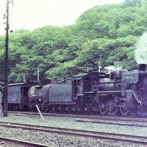 昭和49年蒸気機関車C5833 網走駅停車中カラー撮影しました
