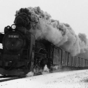 昭和49年蒸気機関車D51483 室蘭本線ですが撮影地不明?
