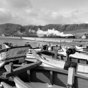 昭和49年蒸気機関車D51 冨浦~登別間で漁船を入れて撮影