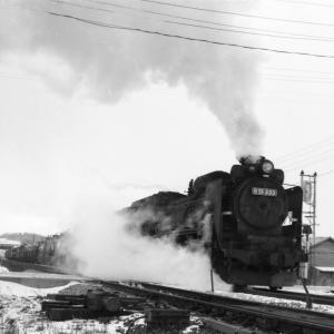 昭和49年蒸気機関車D51333 追分駅近くでやっと出会えた罐