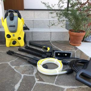 ケルヒャーK3で庭とベランダを大掃除
