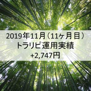 【月次報告】2019年11月の利益は2,747円でした!