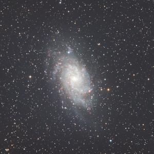さんかく座の渦巻き銀河<M33>