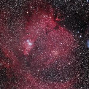 いっかくじゅう座のクリスマス星団とコーン星雲&カタツムリ星雲