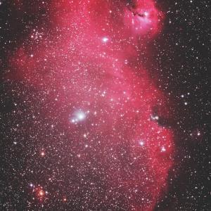 いっかくじゅう座のワシ星雲(IC2177)散光星雲