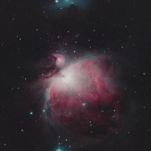 銀河の昇る前にオリオン大星雲(M42&M43)