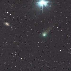 パンスターズ彗星&おおぐま座のM109銀河コラボ