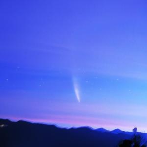 薄雲があったが何とかネオワイズ彗星(C/2020 F3)撮ったぞ!