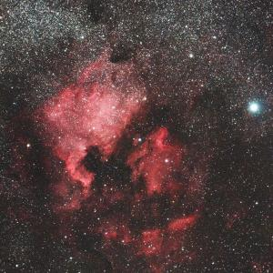 シグマ 150mmF2.8 APO MACROによる北アメリカ&ペリカン星雲コラボ