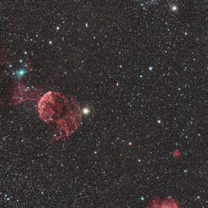 冬の天の川に輝くふたご座のクラゲ星雲&M35散開星団付近とモンキー星雲