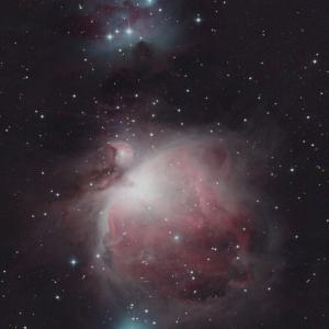 オリオン座の大星雲(M42)ランニングマン星雲(NGC1977)