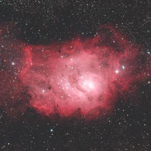 いて座の干潟星雲(M8、NGC6523)☆彡