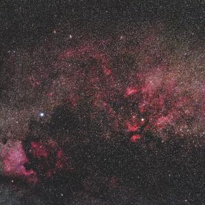 ミニFSQレンズに依るはくちょう座の散光星雲群