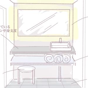 ホテルライクな洗面には既製品か造作か。 アイカのスタイリッシュカウンターなら好みの柄がきっとある