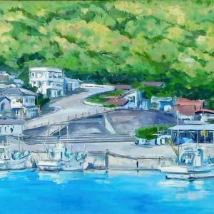 第33回日洋展(坂道の見える港町)