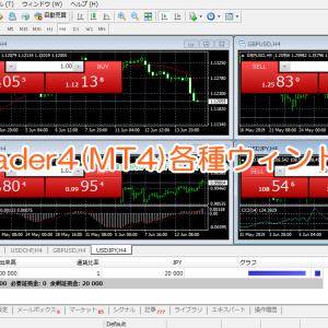 Meta Trader4(MT4)各種ウィンドウの紹介