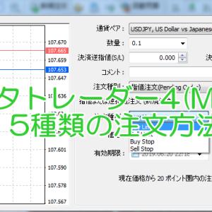 【GemForex】メタトレーダー4(MT4)5種類の発注方法!逆指値注文も上手に使おう