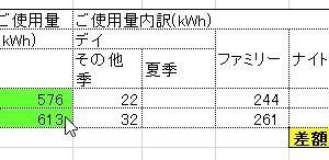 11月中電の検針結果