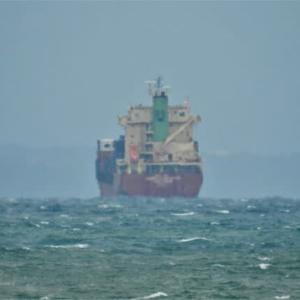 志布志湾のアンカー船