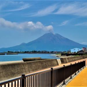 噴煙の桜島