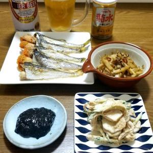 ☆渋い☆旬のおつまみ☆ハタハタと菊芋☆
