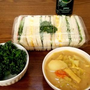 ☆給食のカレースープ☆昔懐かしい☆昭和なサンドイッチ☆
