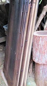 廃材で堆肥場完成