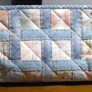 5cmカットの端切れ布のポーチ完成ヾ(o´∀`o)ノワァーィ♪