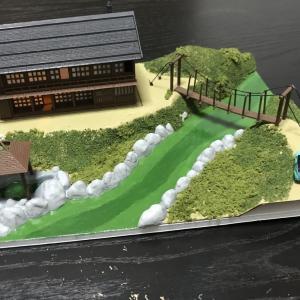 山の温泉宿 ジオラマの製作7(最終回)
