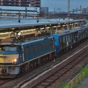 相模鉄道の20000系20102編成が、下松から厚木へ甲種輸送。