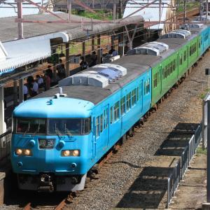 117系(S99編成)+中間車117系(T2編成)の廃車回送