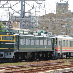キハ120後藤出場配給 EF81 113+ キハ120 329
