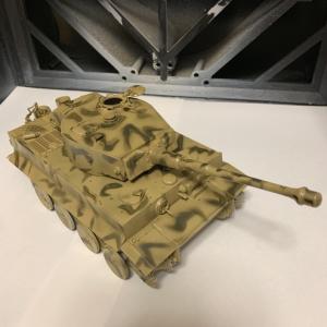 タイガー戦車 迷彩塗装完了
