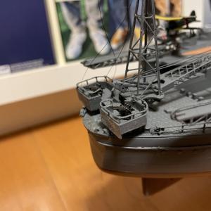 デアゴ1/250戦艦大和 船尾旗棒製作