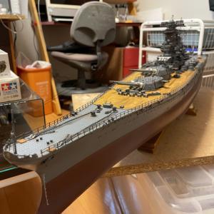 デアゴ1/250戦艦大和汚し塗装完了!