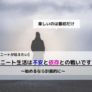 【現ニートが語る】ニート生活は『不安・依存』との戦い(諸刃の剣)