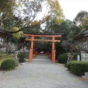種河神社へお花見散歩