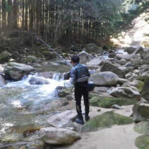 根羽川渓流釣り2日目