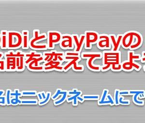 DiDiとPayPayの名前を変えて見よう、氏名はニックネームにできる