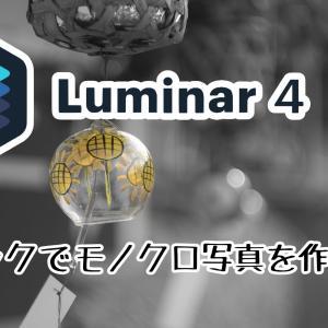 Luminar4「白黒変換」の使い方 1色だけ残すワンポイントカラー写真の作り方も紹介