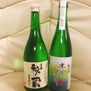 内藤醸造木曽三川純米酒と東春酒造東龍秘蔵