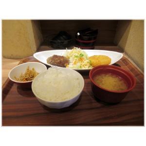 ♪コロッケ&ハンバーグ定食