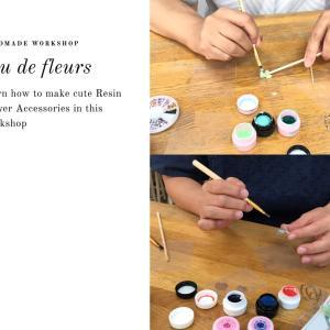 思いでの紫陽花で作る特別なネックレス*レジンフラワーアクセサリー教室
