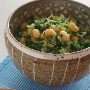 じゃこと小松菜と素揚げ大豆のふりかけ