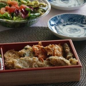井上蒲鉾店「季節野菜のすりみ天婦羅丼」