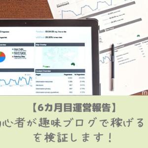 【6カ月目運営報告】ブログ初心者が趣味ブログで稼げるのか!?を検証します!