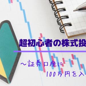 【超初心者の株式投資日記6】証券口座に100万円を入金!